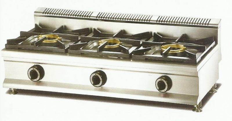 Cocina modular sobremesa a gas economica macql 3fh 3 for Cocina 3 fuegos sobremesa