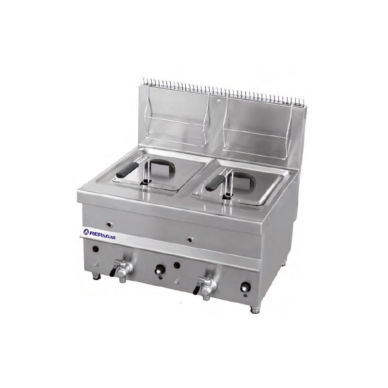 Freidora sobremesa a gas 12 12 litros con grifo fg 24 m for Freidoras a gas medellin