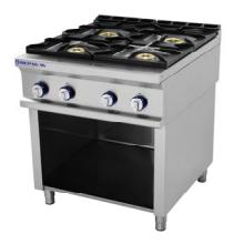 Cocina 4 fuegos con mueble serie 750 inoxfrio for Cocina 6 fuegos repagas