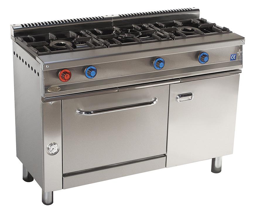 Cocina 3 fuegos a gas con horno serie 550 inoxfrio - Cocina gas 3 fuegos ...