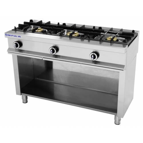 Cocina 3 fuegos a gas con mueble serie 550 inoxfrio - Cocina gas 3 fuegos ...
