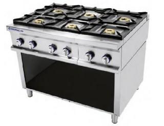 cocina 6 fuegos con mueble serie 750 inoxfrio On cocina 6 fuegos industrial
