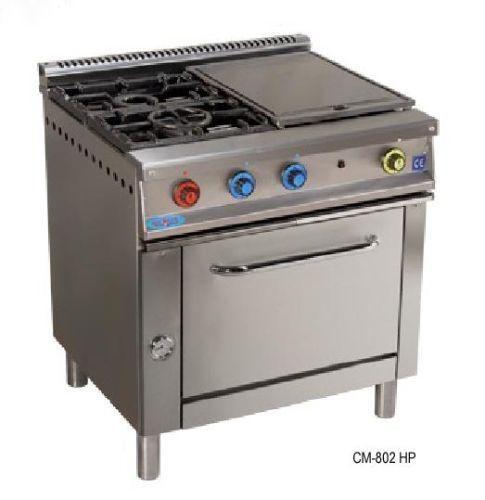 Cocina 2 fuegos y plancha con horno serie 900 inoxfrio - Plancha de cocina ...