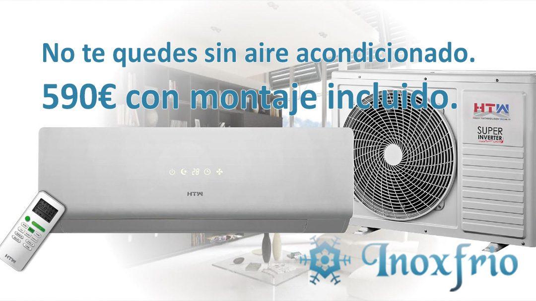 No te quedes sin aire acondicionado, por 590€ equipo + montaje.