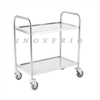 carro-de-acero-inox-2-estantes-VOGUE ATORNILLADO